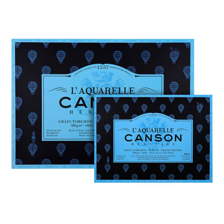 Canson : Heritage : Watercolor Paper Blocks : 300gsm