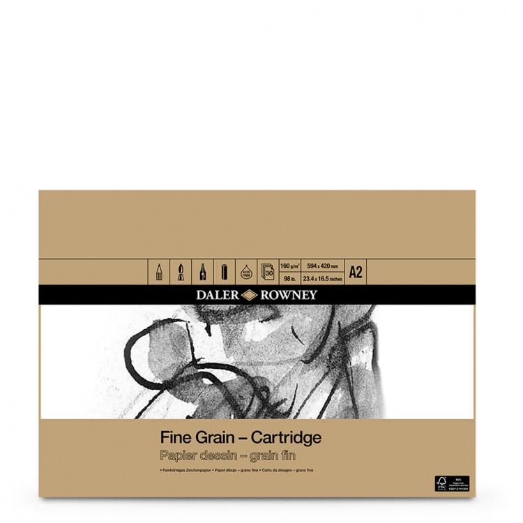 A5 Daler Rowney Fine Grain Cartridge Pad 160gsm 30 sheets