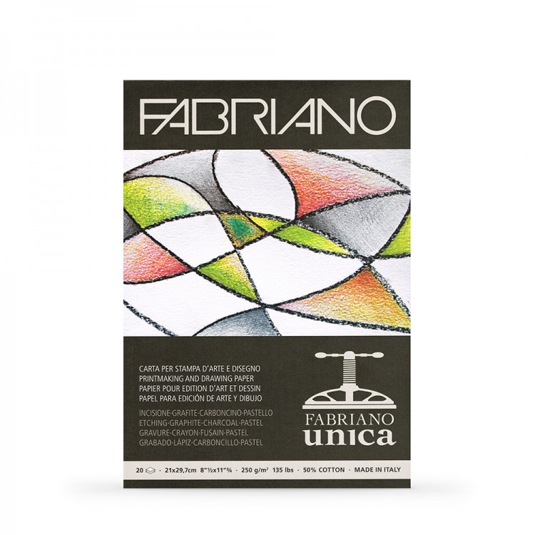 Fabriano : Unica : Printmaking Paper Pad : A4 : 250gsm
