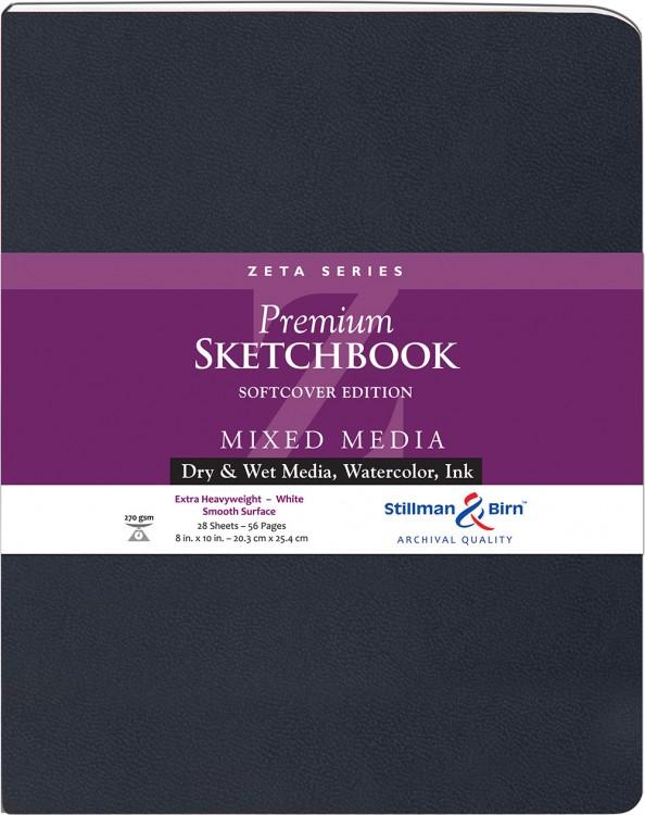 Stillman & Birn : Zeta Softcover Sketchbook : 270gsm : Smooth : 8x10in (20x25cm) : Portrait