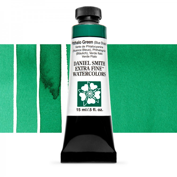 Daniel Smith : Watercolor Paint : 15ml : Phthalo Green (BS) : Series 1