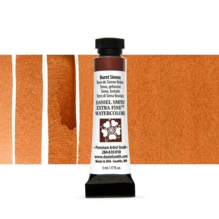 Daniel Smith : Watercolor Paint : 5ml : Burnt Sienna
