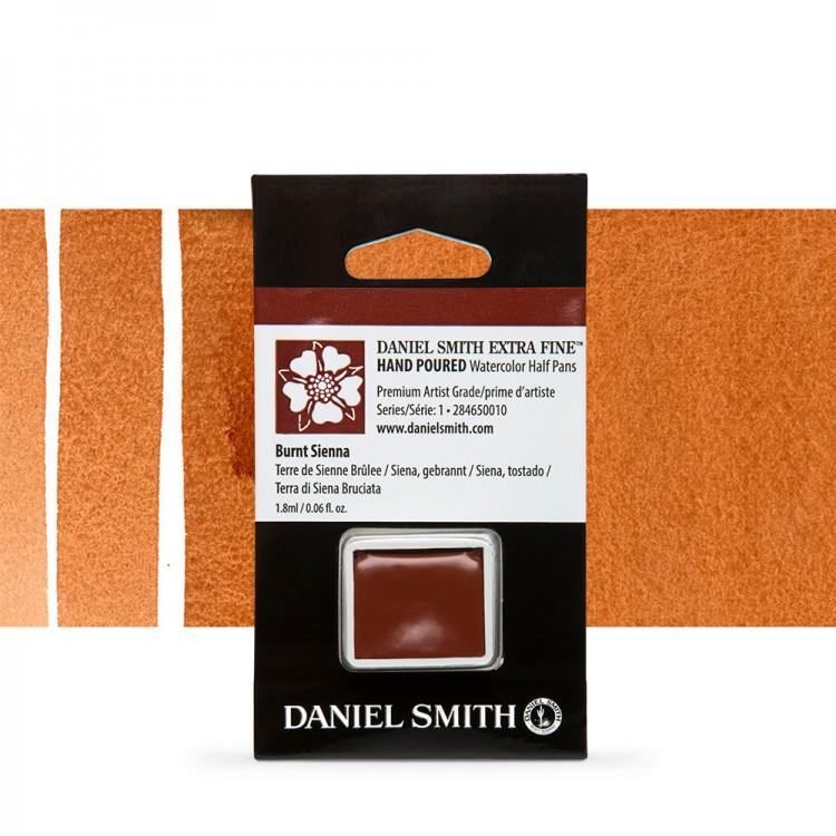Daniel Smith : Watercolour Paint : Half Pan : Burnt Sienna : Series 1