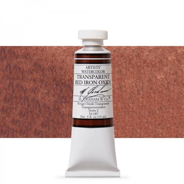 M. Graham : Artists' Watercolor Paint : 15ml : Transparent Red Iron Oxide