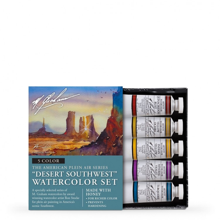 M. Graham : Artists' Watercolor Paint : 15ml : Desert Southwest Set of 5