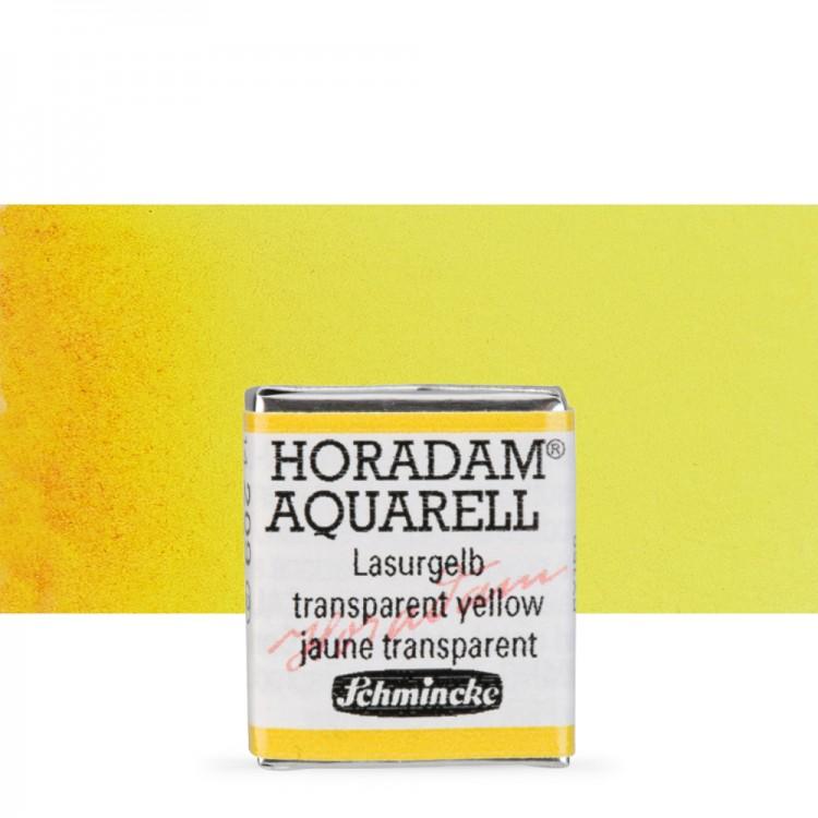 Schmincke : Horadam Watercolor Paint : Half Pan : Transparent Yellow