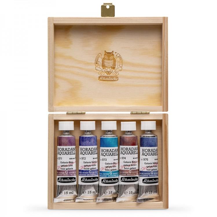 Schmincke : Horadam Watercolour Paint : Super Granulation Set : 15ml : 5 Galaxy Colours
