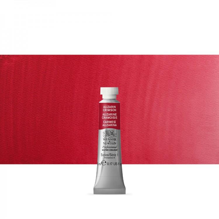 Winsor & Newton : Professional Watercolor : 5ml : Alizarin Crimson
