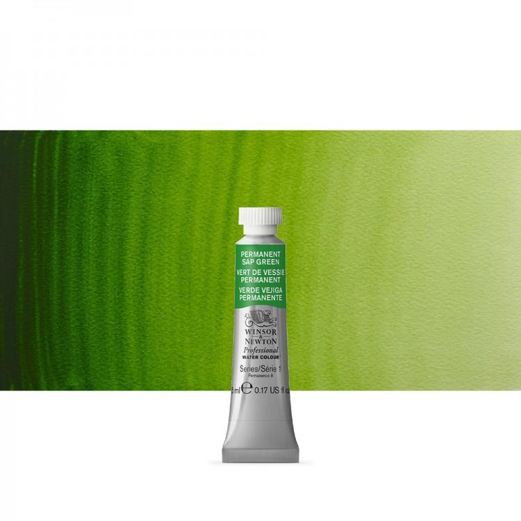 Winsor & Newton : Professional Watercolor : 5ml : Permanent Sap Green