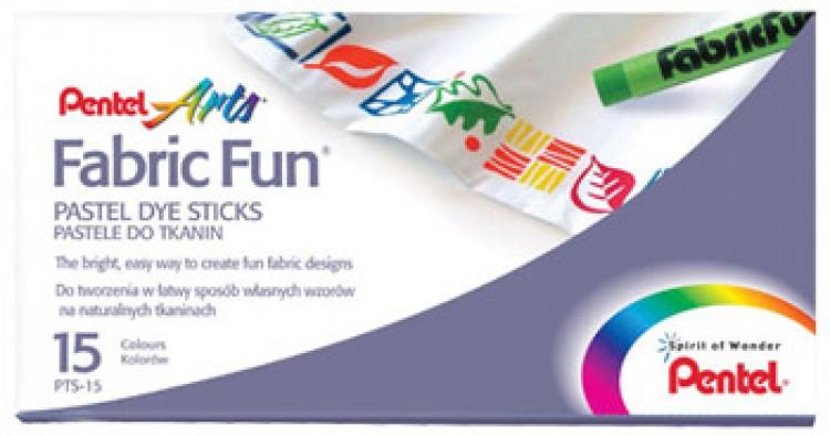 Pentel Fabricfun Pastel Dye Sticks Pack Of 15 Jackson