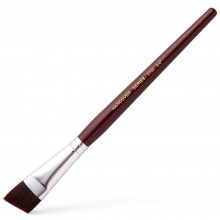Handover : Synthetic Artist Brush Angled Bristles : Student Quality : 3/4 in