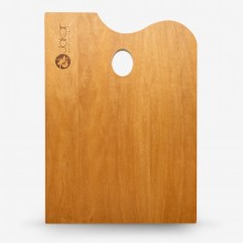 Jakar : Varnished Rectangular Walnut Palette : 25x35cm