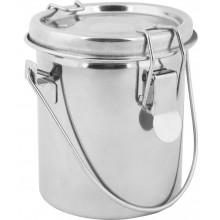 Studio Essentials : Airtight Steel Brush Washer : 8.3x7.3cm : Holds 300ml