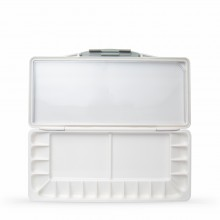 Art Advantage : Silver Watertight Folding Plastic Palette : 18 Well