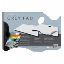 New Wave : Grey Pad Hand Held Disposable Paper Palette