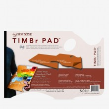 New Wave : Timbr Pad : Disposable Paper Palette : Ergonomic Hand Held Model : 11x16in