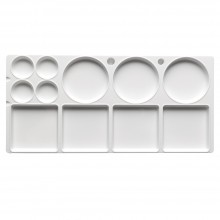 Studio Essentials : Medium Rectangular Plastic Palette : 12.5x6in