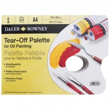 Daler Rowney : Tear Off Palette : For Oil : 50 Sheets : A4 : Yellow