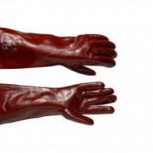PVC Gauntlet : Chemical Resistant 18In Length : One Size