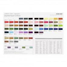Turner : Acrylic Gouache Paint : Japanesque Colours : Hand Painted Colour Chart