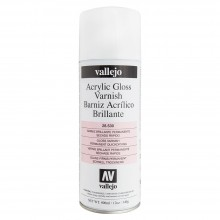 Vallejo : Acrylic : Aerosol Spray Varnish : 400ml : Gloss