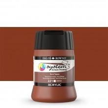 Daler Rowney : System 3 : Screen Printing Acrylic Paint : 250ml : Burnt Sienna