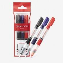Caran d'Ache : Waterbrush Reservoir Travel Brush : Set of 3