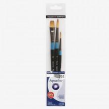 Daler Rowney : Aquafine Watercolor Brush : Wallet Set : 302