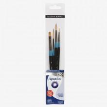 Daler Rowney : Aquafine Watercolor Brush : Wallet Set : 400