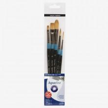 Daler Rowney : Aquafine Watercolor Brush : Wallet Set : 500