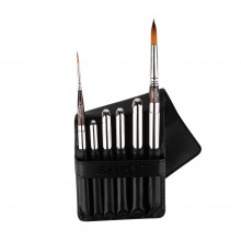 Escoda : Watercolor Travel Brush Set : Prado : Series 1244 : Set of 6