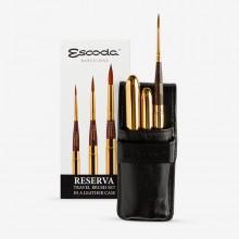 Escoda : Watercolor Travel Brush Set : Reserva : Series 1250 : Set of 3