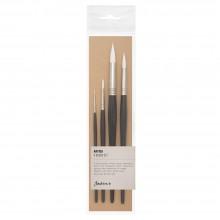 Jackson's : Artica : White Toray : Synthetic Brush : Series 111 : Set of # 0 / 4 / 10 / 14