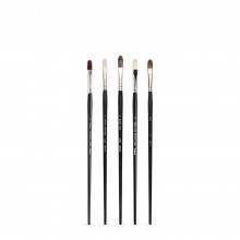 Jackson's : Long Handle Oil & Acrylic Brush : Comparison Set of 5 Filbert