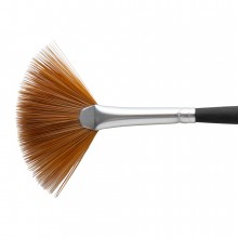Princeton : Aqua Elite : Synthetic Kolinsky Sable : Watercolour  Brush : Series 4850 : Short Handle : Fan : Size 4
