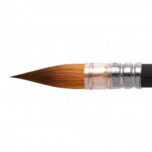 Princeton : Aqua Elite : Synthetic Kolinsky Sable : Watercolour  Brush : Series 4850 : Short Handle : Quill : Size 6