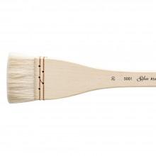 Silver Brush : Atelier Hake : Long Handle : Flat : Size 20 : 45mm Wide