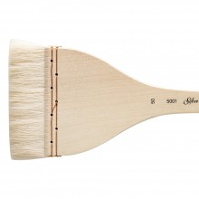 Silver Brush : Atelier Hake : Long Handle : Flat : Size 50 : 90mm Wide