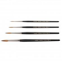 Rosemary & Co : Shirley Trevena : Kolinsky Sable Watercolor Brush : Set of 4