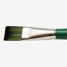 Tintoretto : Smeraldo : Synthetic Oil and Acrylic Brush : Long Handle : Series 375 : Flat : Size 26