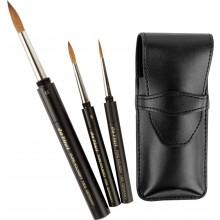 Da Vinci : Maestro : Kolinsky Sable Travel Brush Set of 3 in Case : Series 1503