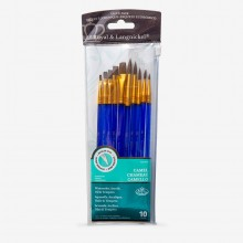 Royal & Langnickel : Camel Hair Value Brush Set of 10