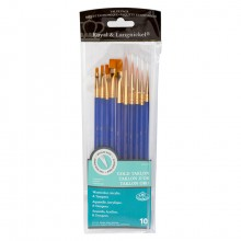 Royal & Langnickel : Golden Taklon Value Brush Pack