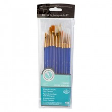 Royal & Langnickel : White Bristle Value Pack/Golden Bristle Value Brush Pack