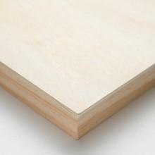 Ampersand : Artist Panel : Unprimed Basswood Panel : Cradled 22mm : 8x8in