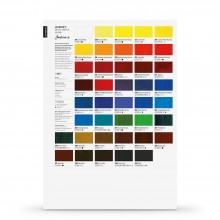 Jackson's : Artist Acrylic : Hand Painted Color Chart (Contains 2 Pages)