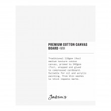 Jackson's : Single : Premium Cotton Canvas Art Board 4mm : 4x5in (Apx.10x13cm)