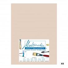 Multimedia Artboard : Pastel Artist Panel : 0.8 mm : 320 Grit : 5 Pack : 9x12in : Sandstone
