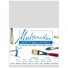 Multimedia Artboard : Pastel Artist Panel : Sample : 0.8 mm : 320 Grit : 6x8in : Light Grey : 1 Per Order