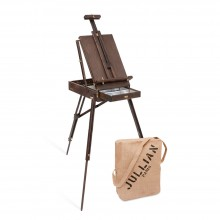Jullian : Full Vintage French Easel : Oak With Jute Bag